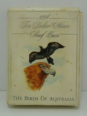 BIRDS OF AUSTRALIA Ten Dollar Silver Proof Coin - Wedge-tailed Eagle 1994 (20g)