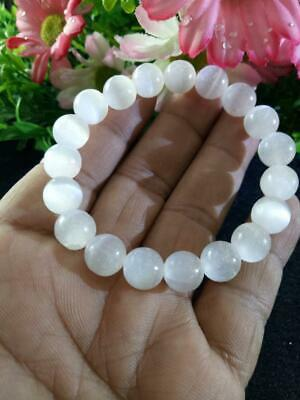 Selenite Natural Stone Bracelet Positive Energy Chakra Protection Reiki 10mm