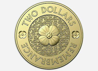 $2 dollar 2018 Gold Poppy UNC coin from 30th Anniversary mint set.VERY SCARCE