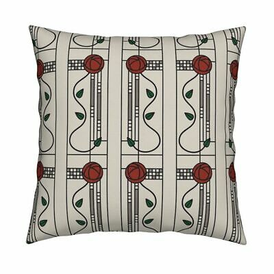 Rose Antique Vintage Glasgow Throw Pillow Cover w Optional Insert by Roostery