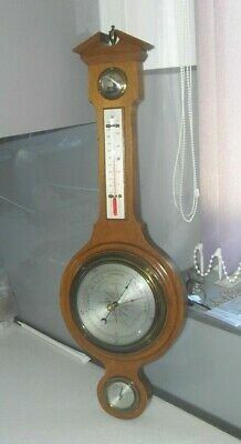 LARGE VINTAGE 1950s ONORATO COMITTI OF LONDON BAROMETER HYGROMETER THERMOMETER