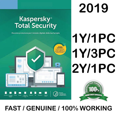 Kaspersky Total Security Antivirus 2019 1 Year / 2 Years - Global License