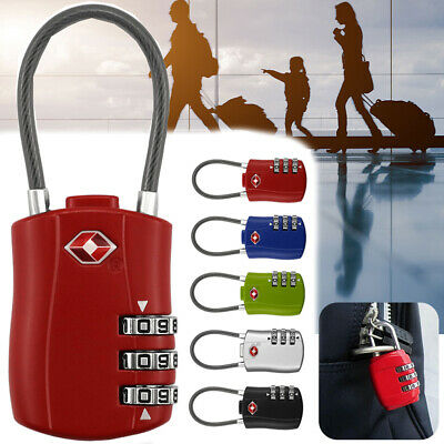 TSA Resettable 3 Digit Combination Travel Luggage Suitcase Travel Lock Padlock