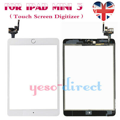 For iPad Mini 3 A1599 A1600 Touch Screen Digitizer Replacement Home Button White