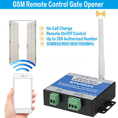RTU5024 Door Gate Opener GSM Remote On/Off Switch Free Call SMS Text Command
