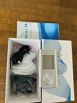 Dual Channel TENS Machine Unit Body Pain Relief Massager Device +8 Pads Physio
