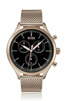 3437633a2 Hugo Boss HB1513548 Companion Watch Meshband Rose Gold Mens Chronograph  Watch