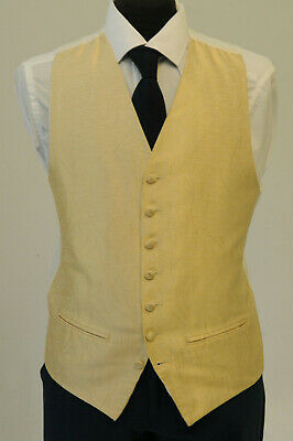 W1126. Mens/Boys Ivory And Gold  Swirl Waistcoat / Dress/ Suit / Party / Formal