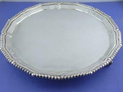 English Sterling Salver / footed Tray Roberts & Belk ~ Sheffield c1987 ~12.69ozt