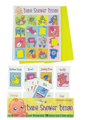 Mum To Be Baby Shower Bingo Game Accessories Gift Idea Quiz Boy Girl Card Party