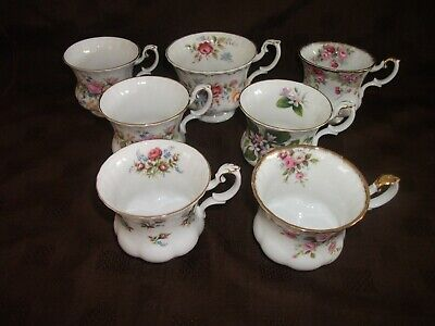 Small Collection Of Royal Albert Floral Small Coffee Tea Cups - Ideal For Spares