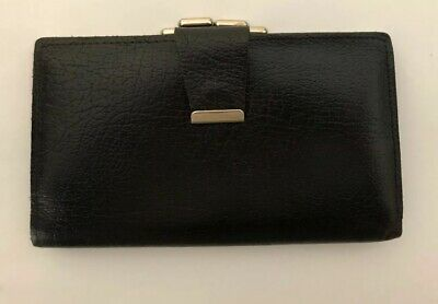 Vintage Black Leather Change Purse And Wallet With Nice Clasp