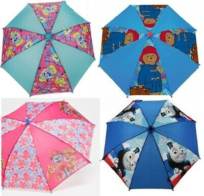 Peppa Thomas Mlp Paddington Boys Girls Kids Rain Umbrella School Panel Brolly