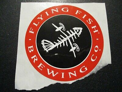 FLYING FISH BREWING CO Red Oval Logo STICKER decal craft beer brewery