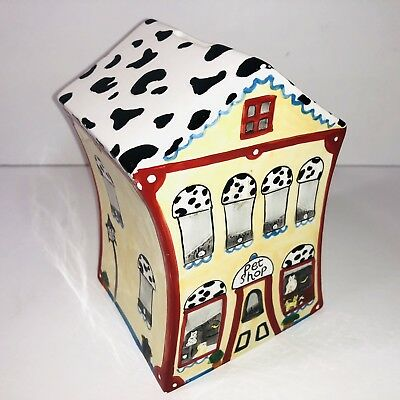 Pet Shop hand painted ceramic coin bank