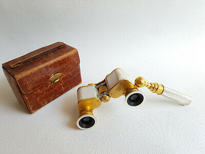Luxury Opera glasses Carl Zeiss Teleater 3x13.5 Opernglas Handle Perlmutt 1920s