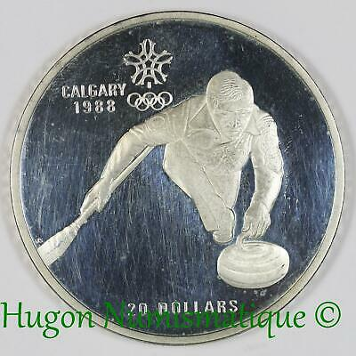 Canada Once 20 dollars 1987 argent Jeux Olympiques d'Hiver Calgary 1988