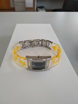 Case with yellow flowers acrylic bracelet 14mm