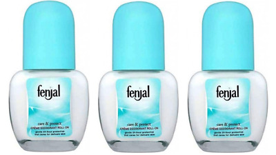 3x Fenjal Classic care & protect CREME DEODORANT ROLL-ON 50ml