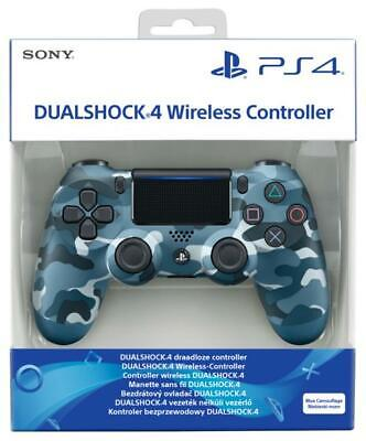 Sony Official Dualshock 4 Controller Blue Camouflage PS4 Brand New and Sealed UK
