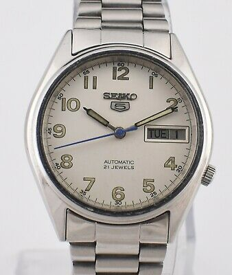 e9ee63255 Authentic Vintage Seiko 5 Automatic 21 Jewels CAL.7019A Day Date Men's Watch