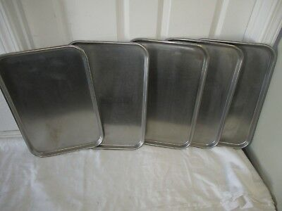 Vollrath 80190/ 8019 Oblong Stainless Steel Display Set of 5 Trays Used
