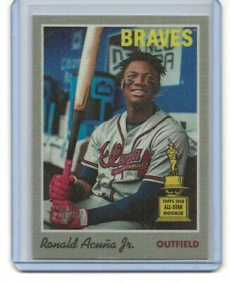 Ronald Acuna Jr. 2019 Topps Heritage Cloth Sticker #7