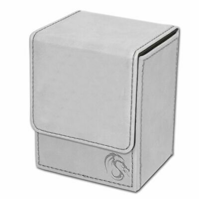 1x BCW GAMING LARGE DECK CASE WHITE Box Holds 100 Cards w//Divider 1-DCLG-WHI