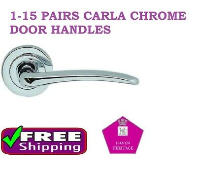 1-15 Carla Sets Lever ON Rose Internal Door Handles Chrome FREE DELIVERY D3