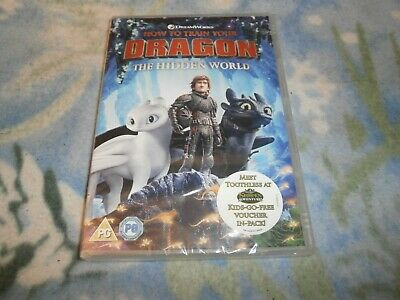 new sealed HOW TO TRAIN YOUR DRAGON the hidden world dvd 2019