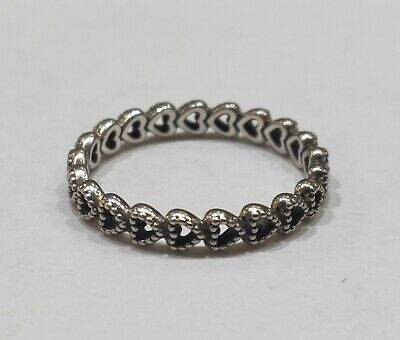 e89e5e7675a9d NEW AUTHENTIC PANDORA Linked Love Ring - Sterling Silver Hearts 54 ...