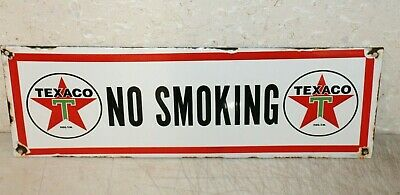 Texaco No Smoking  Vintage Style Porcelain Signs Gas Pump Man Cave Station ..