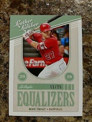 Mike Trout 2019 Leather and Lumber Equalizers /25 Angels !!!!!