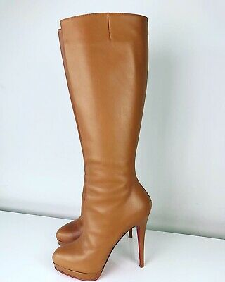 d8b6a63ddbc CHRISTIAN LOUBOUTIN ALTI Botte 160 Pearl Grey Suede Knee High Boots ...