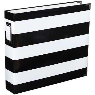 Becky Higgins Project Life Edition Album12x12 D-Ring Black&White Stripe