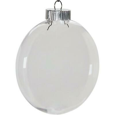 Darice Clear Plastic Christmas Ornament Disc 100mm