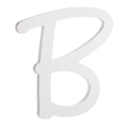 Darice 9 Inches White Wood Letter B Brush Font