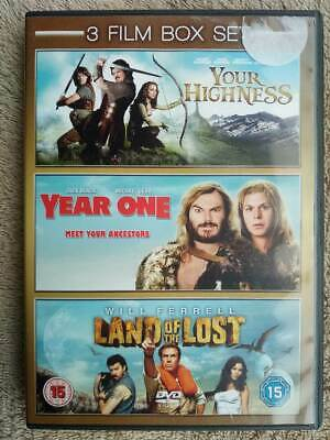 3 Film Box set- Your Highness/ Year One/ Land of the Lost DVD