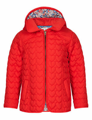 M&S INDIGO COLLECTION Shower Resistant Heart Quilted Coat for Age 5-6 BNWT