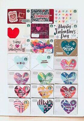 STARBUCKS VALENTINES PICK Your Gift Card Collections 2010 To 2019