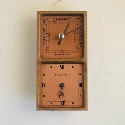 Vintage Swiss Made C.ROSS BOAS Travel clock For Parts Or Repair Doesn't Work
