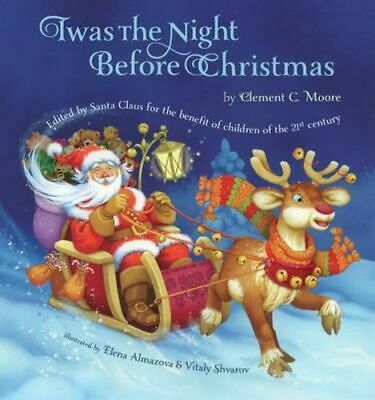 NEW Twas the Night Before Christmas By Clement Moore Hardcover Free Shipping