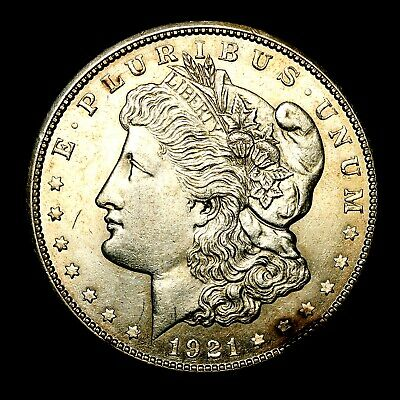 1921 S ~**ABOUT UNCIRCULATED AU**~ Silver Morgan Dollar Rare US Old Coin! #V28
