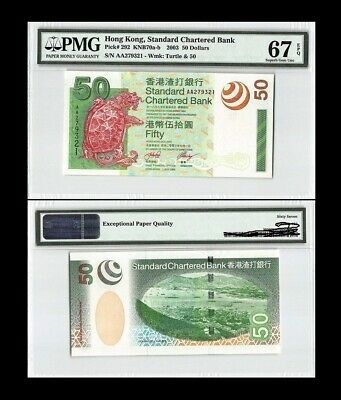 P 297c  SCB  Uncirculated HONG  KONG 20 DOLLARS 2013  Prefix CC or CJ