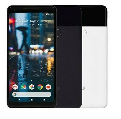 Google Pixel 2 XL 64GB 128GB Unlocked Black, Black & White GSM Phone
