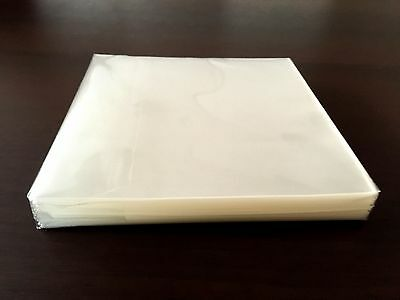 Open Mouth Outer Plastic Sleeves For Mini Lp Cd -100 Sheets-