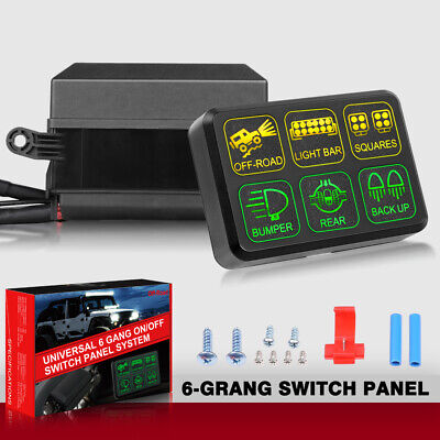 6-gang switch panel electronic relay circuit control system car boat+wiring  kits