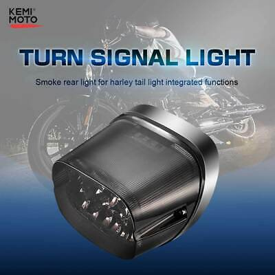 Smoke LED Rear Tail Brake Light For Dyna Electra Glide Road King Ultra Classic