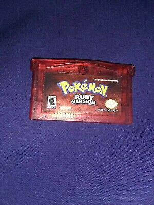 Authentic Pokemon Ruby Version - GBA Gameboy Advance - Tested w/Battery