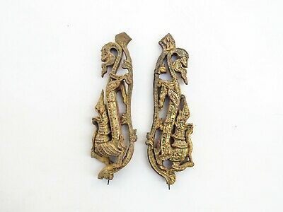Beautiful Antique Wood Carve (The piece is decorated inside the temple) See